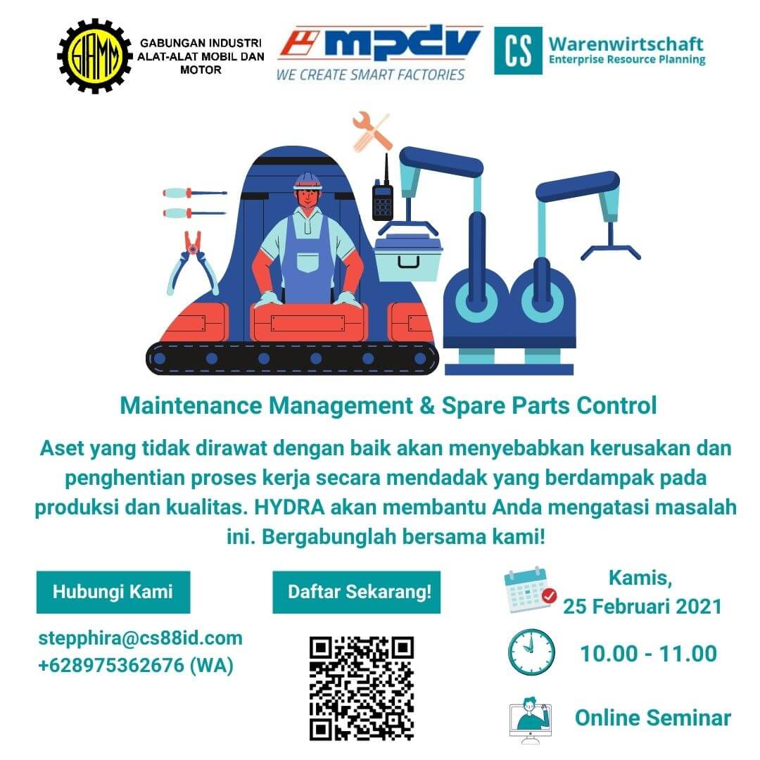Smart Factory Webinar Series (Topic : Maintenance Management & Spare Parts Control)