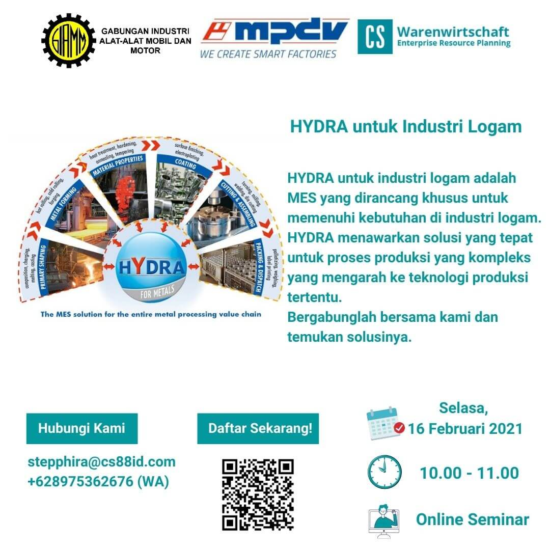 Smart Factory Webinar Series (Topic : HYDRA for Metals Industry)